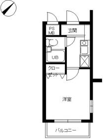 スカイコート宮崎台第44階Fの間取り画像