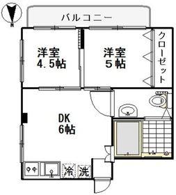 メゾントーカⅡ2階Fの間取り画像