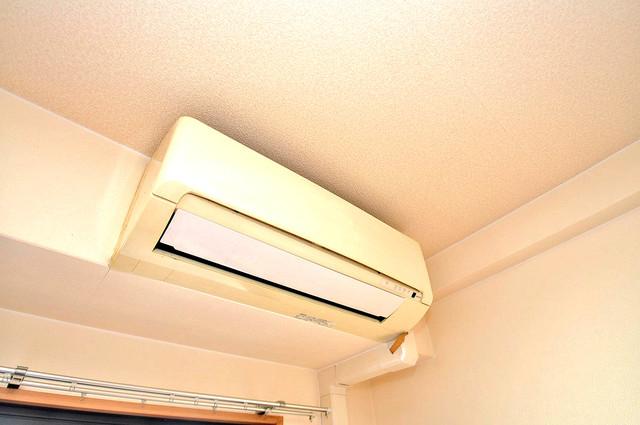 アンソレイユ菱屋西 エアコンがあるのはうれしいですね。ちょっぴり得した気分。