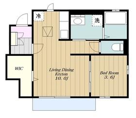 リアンⅡ1階Fの間取り画像