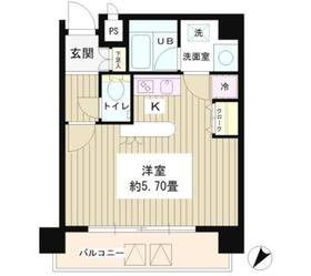 恵比寿駅 徒歩4分5階Fの間取り画像
