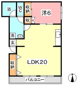 ファーレンハイト Ⅱ1階Fの間取り画像