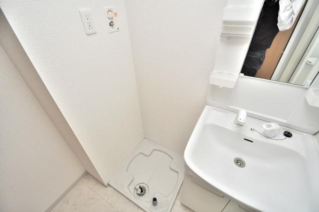 アミティタワー 室内に洗濯機置き場があれば雨の日でも安心ですね。