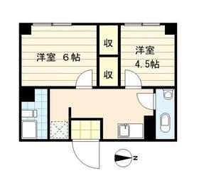 鈴木ビル5階Fの間取り画像