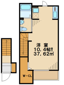 Casa Raffinato2階Fの間取り画像