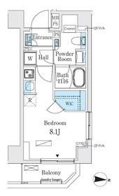 リビオメゾン両国イースト6階Fの間取り画像