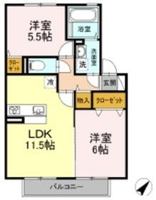 メゾン・セルシオ2階Fの間取り画像