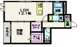 メゾン松澤1階Fの間取り画像