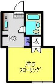 トキタハイツ1階Fの間取り画像