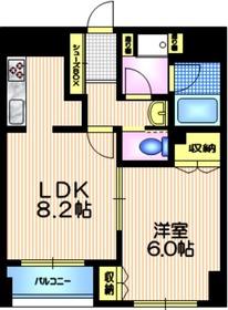 ソレイユ田園3階Fの間取り画像