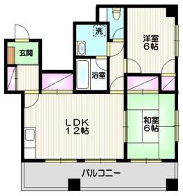 テラスサイド浦和4階Fの間取り画像