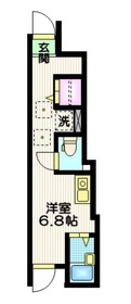 Wing Apartsments  Nakaitabashi2階Fの間取り画像
