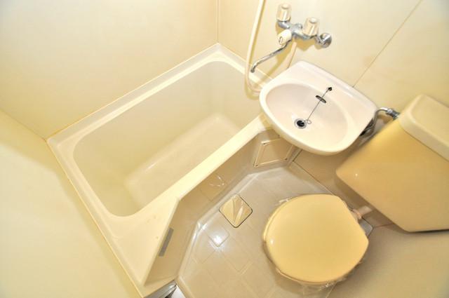 プレアール布施 ちょうどいいサイズのお風呂です。お掃除も楽にできますよ。