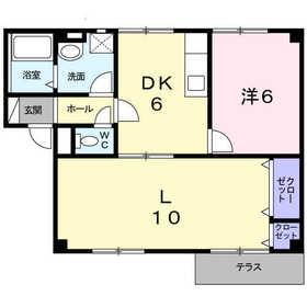 フォンテーヌシャトレⅠ1階Fの間取り画像