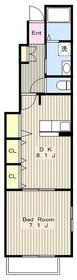 鶴巻温泉駅 車12分3.8キロ1階Fの間取り画像