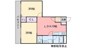 讃井ビル3階Fの間取り画像