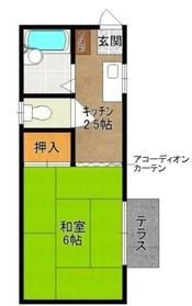 トマトハウス1階Fの間取り画像