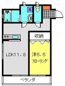 NEXUSガーデン2階Fの間取り画像