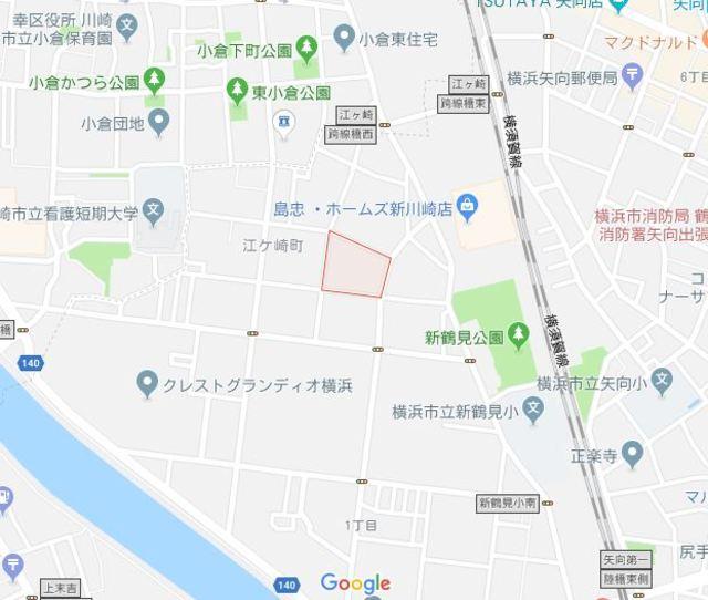 矢向駅 徒歩14分案内図