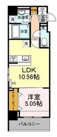 ポラリス菊川4階Fの間取り画像