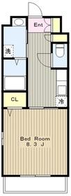 アライブB1階Fの間取り画像