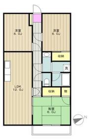 第14明智ビル2階Fの間取り画像