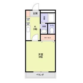 成増駅 徒歩3分2階Fの間取り画像