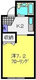 プチマロン1階Fの間取り画像