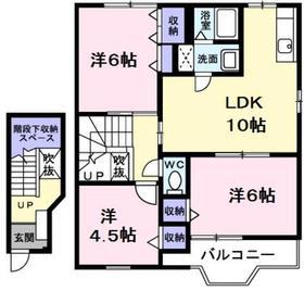 小作駅 バス10分「恵明学園前」徒歩6分2階Fの間取り画像