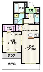 (仮称)吉野町1丁目メゾン ペット共生1階Fの間取り画像
