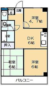 リビエール井田2階Fの間取り画像