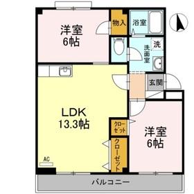 小野マンション3階Fの間取り画像