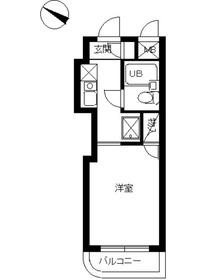スカイコート蒲田54階Fの間取り画像