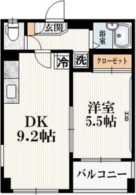 山主ビル3階Fの間取り画像