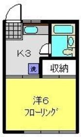 和田町駅 徒歩5分2階Fの間取り画像