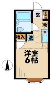 セシル012階Fの間取り画像