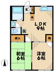 かしわ台駅 バス8分「国分」徒歩4分2階Fの間取り画像
