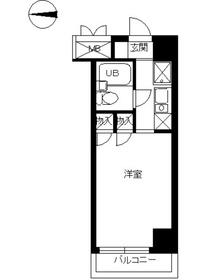 スカイコート世田谷第41階Fの間取り画像