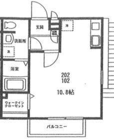 ザ・ネスト2階Fの間取り画像