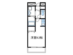 レジデンスSU2階Fの間取り画像