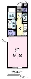 パスコーレ3階Fの間取り画像