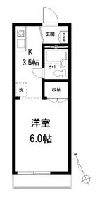 メゾンYM1階Fの間取り画像