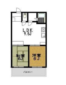 弘明寺パークコート4階Fの間取り画像