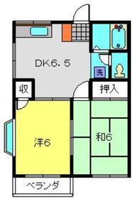 井土ヶ谷駅 徒歩17分2階Fの間取り画像