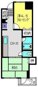 新羽駅 徒歩3分4階Fの間取り画像