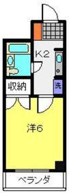 谷口マンション3階Fの間取り画像