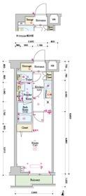 スカイコートグレース新宿中落合3階Fの間取り画像