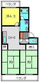 カーサクレモナ2階Fの間取り画像
