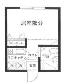 ハーミットクラブハウス鶴ヶ峰E棟1階Fの間取り画像