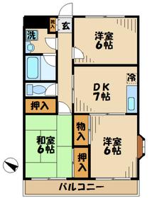 京王永山駅 バス10分「別所」徒歩2分2階Fの間取り画像